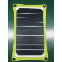 JHXT太阳能充电宝户外便携式5V5W太阳能移动电源背带电池