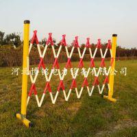 博铭施工隔离栏 玻璃钢绝缘伸缩围栏 不锈钢警示带安全围栏 拱门围栏 美观