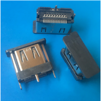 HDMI立贴13.0mm母座19P立式贴片180度°SMT