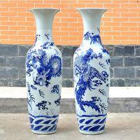 景德镇厂家定制陶瓷锦绣前程落地大花瓶客厅装饰摆件大花瓶元旦礼品