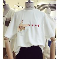 福建福州厂家特价便宜处理女式T恤夏季跑量韩版纯棉短袖清货2元-5元服装批发