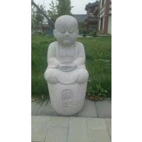 园林绿地石雕小品雕塑小和尚雕塑