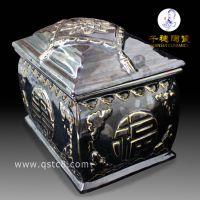 定做密封陶瓷骨灰盒加照片_景德镇陶瓷骨灰盒生产制作厂家