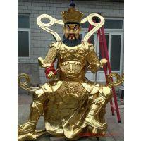 曲阳恒磊雕塑定制铜雕四大天王雕塑