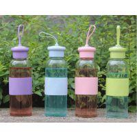 玻璃杯便携加厚水杯随手杯学生广告玻璃水瓶韩国创意杯子印字定制