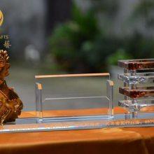 无锡酒店开业礼品,马到成功办公摆件, 商会成立纪念品,水晶三件套工艺品