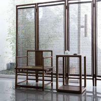 重庆新中式茶几老榆木免漆茶桌实木 中式古典茶桌椅组合客厅