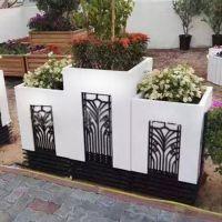 pvc组合花箱 古典雕刻塑木花箱 户外防腐花箱 街道广场公园花箱