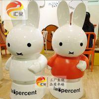米菲兔玻璃钢雕塑美陈商场儿童节活动装饰游乐园吸引人流可定制