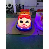 新款猪猪侠造型亲子双人座全身发光碰碰车游乐设备