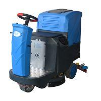 广西塑胶地板水磨石用洗地机|水泥地面用依晨驾驶式多功能洗地机