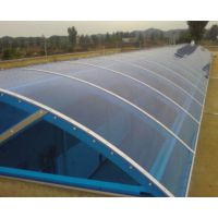 用于候车厅顶棚材料双层湖蓝pc阳光板3mm单层耐力板玻璃钢透明采光瓦