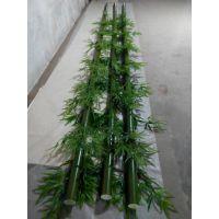 松涛工艺仿真竹子直销 庭院人造竹子围墙塑料景观装饰订做