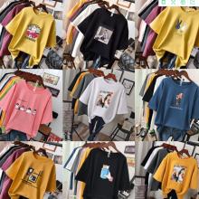 便宜女士T恤夏季韩版时尚短袖尾货批发几块钱的女装T恤清货5元以下清