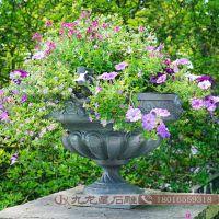 砂岩花岗岩石材花钵 园林艺术特色花钵 优质石雕花盆图片