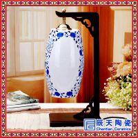 景德镇青花瓷创意陶瓷台灯卧室床头灯 中式会所酒店装饰台灯