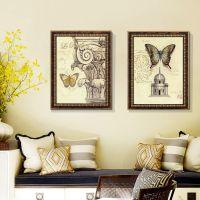厂家直销 欧美装饰画批发 客厅沙发背景墙三联壁画 现代装饰画 PS发泡