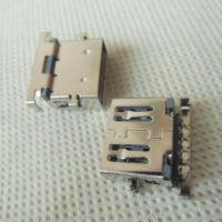uSB3.0沉板90度母座 3.0USB沉板插板AF-90度dip带支架USB3.0-A母