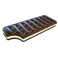 环保PVC充气巧克力浮排 夹心朱古力浮排 水上休闲浮床躺椅