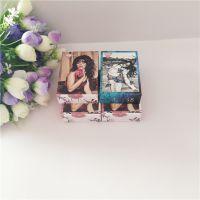 印刷纸首饰盒展示用折叠式耳钉盒吊坠盒厂家直销