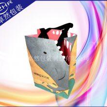 特别设计异型开口纸袋 卡通动物可爱礼品纸袋 可折叠环保精美织带手提购物袋