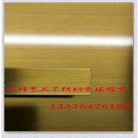 【专业镀铜板厂家】不锈钢铜板做旧手拉丝 洒店装修中式 古铜拉丝材料