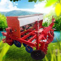 拖拉机带谷子精播机图片 水萝卜播种机 启航4行小粒种子精播机厂家
