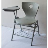 加大写字板学生椅 四脚会议椅 电脑椅子 职员椅 新闻发布会用椅 塑钢培训椅厂家