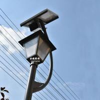 厂家直销压铸铝庭院灯3米太阳能高杆路灯防水大六角灯头景观灯