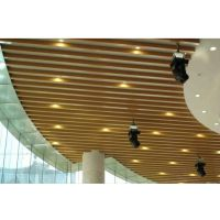 供应金属装饰吊顶生态热转印木纹U形槽铝方通