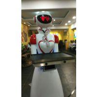 威朗智能机器人餐厅酒店送餐点餐展馆接待引导讲解机器人服务员