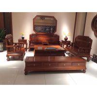 刺猬紫檀古典红木家具国色天香沙发6件套全国供应