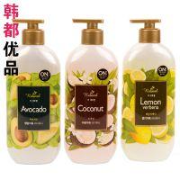 韩国进口正品 LG ON THE BODY 水果沐浴露 牛油果 椰子 柠檬500g