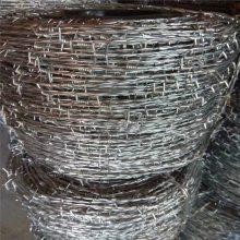 刺绳护栏图片 刺丝围栏 刺丝绳多少钱一米
