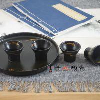 景德镇陶瓷茶具 手绘荷花茶具