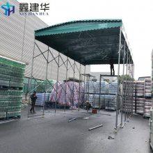 嵊州厂家直销推拉雨棚布 可拆装大型挡雨篷 高空雨篷定制