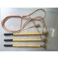 户内铜头弹簧压紧式高压接地棒 JDX-NLT-10kv平口螺旋变电接地线