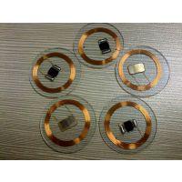 透明PVC圆形钱币卡 id+ic 直径22mm 双频复合卡 4K S70