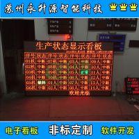 苏州永升源厂家生产定做LED显示屏 电子看板 车间工位物料无线呼叫系统