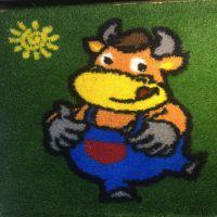 卡通幼儿园人造草坪幼儿玩乐室外防护