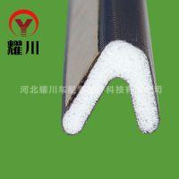 专业生产包覆式自粘PU发泡条,防盗门用环保密封条 铜门胶条