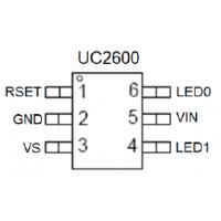 转灯芯片UC2600,SOT23-6封装,外围简单,不闪灯,成本低,秒杀LM358