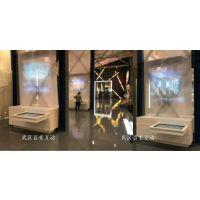 武汉纱幕投影显示屏互动/展馆透明液晶屏展示柜(可定制)
