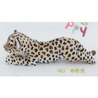 深圳毛绒玩具厂定做仿真豹子/雪豹公仔可爱小狮子毛绒玩具PP棉填充10cm