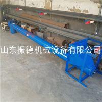 输送螺旋抽粮机 振德供应 定做倾斜式螺旋输送机 绞龙管式提升机