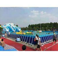 儿童组合式滑梯水上乐园 大型移动支架泳池游乐场 玩水支架水池游乐园