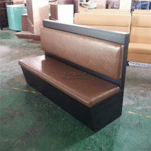 广州三胺板卡座沙发,简约板式家具定制
