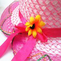 夏季儿童草帽 太阳花遮阳帽 女童防晒沙滩太阳帽户外出游旅游帽子