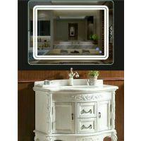 LED带灯壁挂卫浴镜卫生间厕所洗手台镜智能镜化妆防雾无框镜灯镜