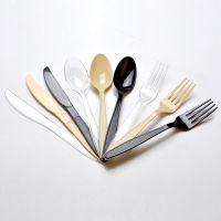 喇叭花一次性刀叉勺子多功能塑料勺长柄西式叉勺子牛排刀1000支